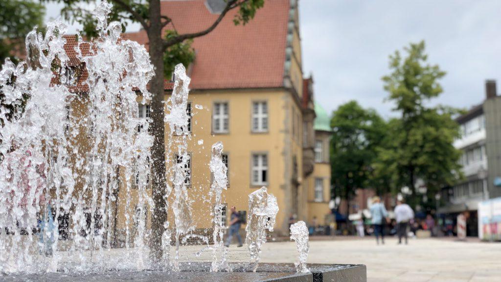 Wasserspiel am Berliner Platz